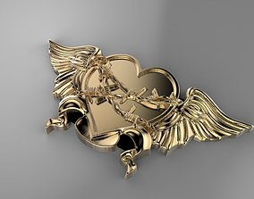 Winged Heart sculptures 3D printable model