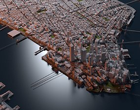 New York City Map Manhattan 3D model