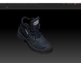 Boot 3D model low-poly scanning