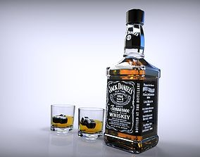 Whisky Jack Daniels 3D