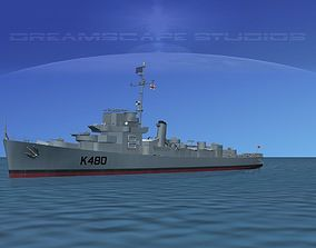 UK Captains Class Frigate HMAV Goodson 3D model