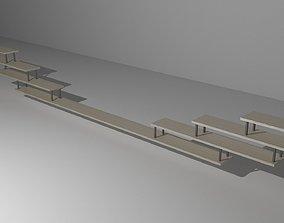 3D model ledge book shelf
