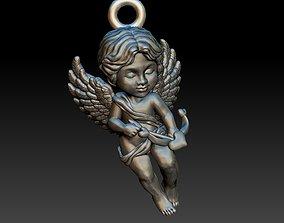 cupid angel pendant 3D print model