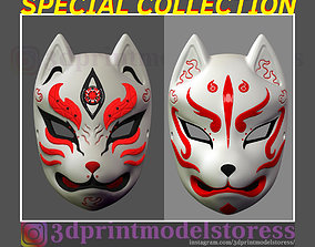 Japanese Fox Mask Demon Kitsune Cosplay SPECIAL 3D