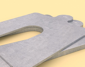3D model Size A Slotted Shims
