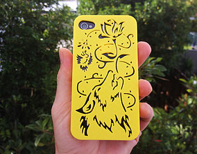 Howling Wolf Iphone Case 4 4s 3D print model