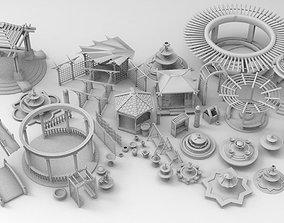 fountain Garden set 3D model