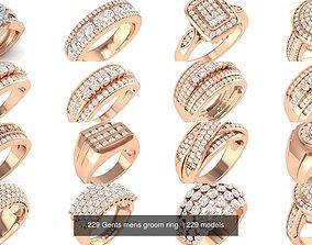 3D 229 Gents mens groom ring