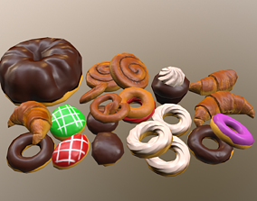 3D asset Low-Poly Sweet Pastry