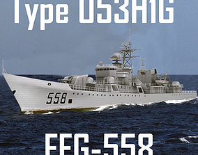 3D model Chinese Navy Type 053H1G Jianghu-V Class Missile