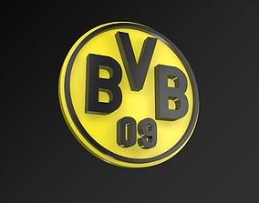 game-ready Borussia Dortmund FC Football Club 3D Logo