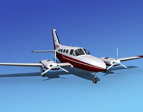 Cessna 414A Chancellor V04 3D model