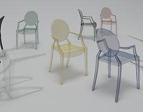 Philippe Starck Kartell Louis Ghost chair 3D model