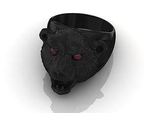 Bear Ring 3D Print Model 3d-model