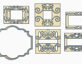 Labels Cookie Cutter Set 3D printable model