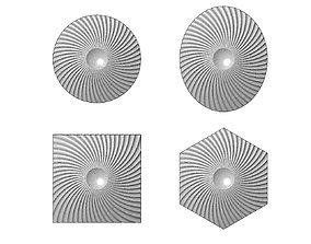 Spiral pattern panel or tile 3D print model