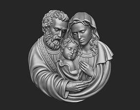 Holy Family Pendant 3D print model