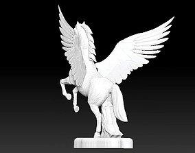 Pegasus horse wing fictional creature statue 3D model