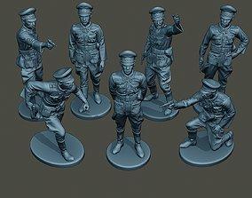 German officers ww2 G5 Pack1 3D model