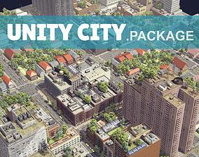Realistic Unity City 3D asset