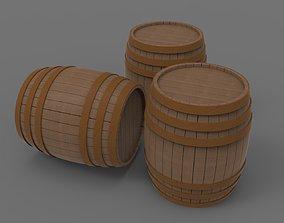 3D model Barrel Drum wood