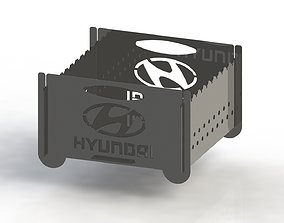 Grill with Hyundai logo 300x300 for laser cut 3D print