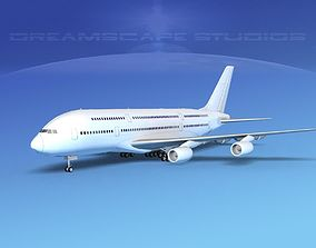 Airbus A380-800 Unmarked 3D