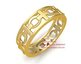2092 Gold Wedding ring 3D print model