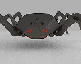 3D Titanium realistic spider-robot