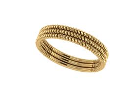 Spiral ring gold 3D printable model