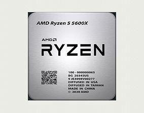 CPU AMD Ryzen 5 5600X 3D model