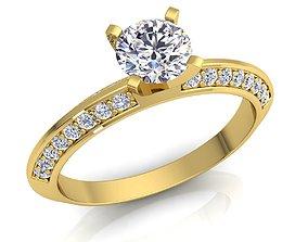 Fancy Solitaire Diamond Ring 3D print model