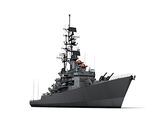 3D model USS Leahy DLG-16