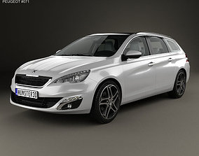 Peugeot 308 SW with HQ interior 2014 3D