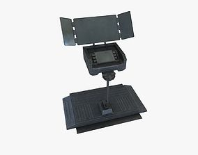3D model low-poly sci-fi monitor