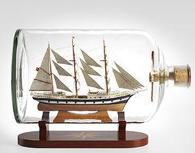 Ship in a Bottle Seute Deern base 3D model