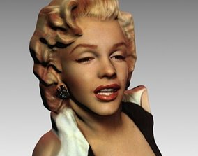 3D print model Marilyn Monroe full color portrait