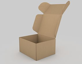 Adjustable and Rigged Box Package 3D model