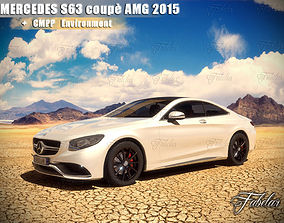 Mercedes S63 AMG 2015 and Environment 3D model