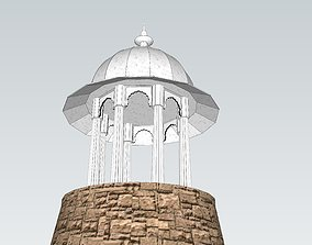 indian stone chatri 3D model