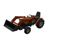 Tractor Kubota- Farm 3D model