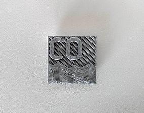 047b - Magnet - Colorado Abstract 3D printable model 1