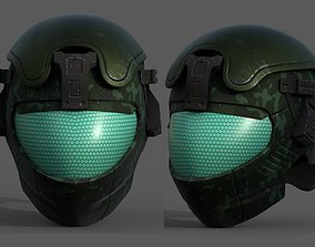 low-poly Helmet scifi military combat 3d model low poly