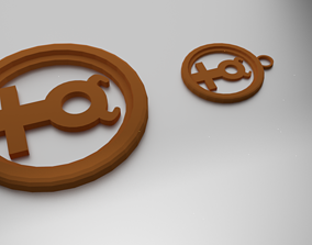3D printable model Glass Coaster Mercury and Pendant