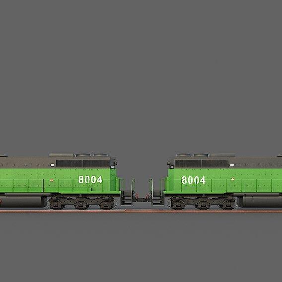 Locomotive EMD SD40-2 Burlington Northern
