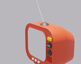 Cartoon Retro TV 3D asset