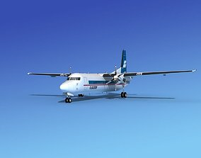 3D model Fokker 50 Flugleidir Islandair