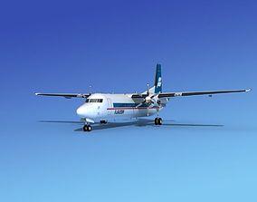 3D model Fokker 50 Flugleidir Islandair