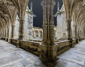 3D Gothic cathedral cloister full photogrammetry