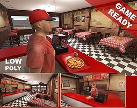 Pizzeria Interior 3D asset